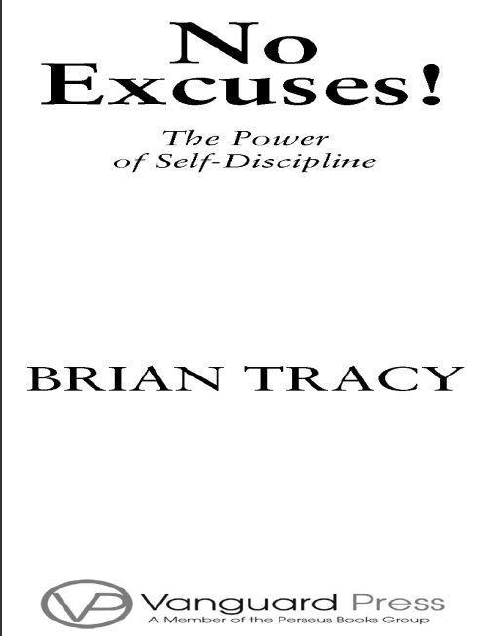 No Excuses The Power of Self-Discipline by Brian Tracy